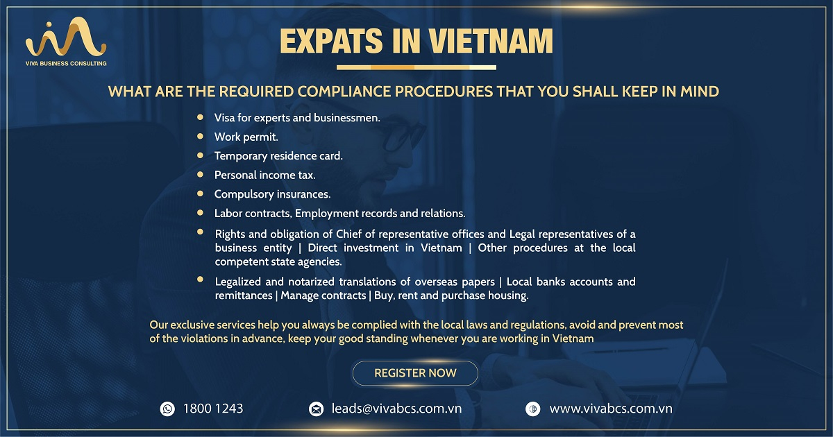 Foreign employees in vietnam - counsel and support required local compliance procedures