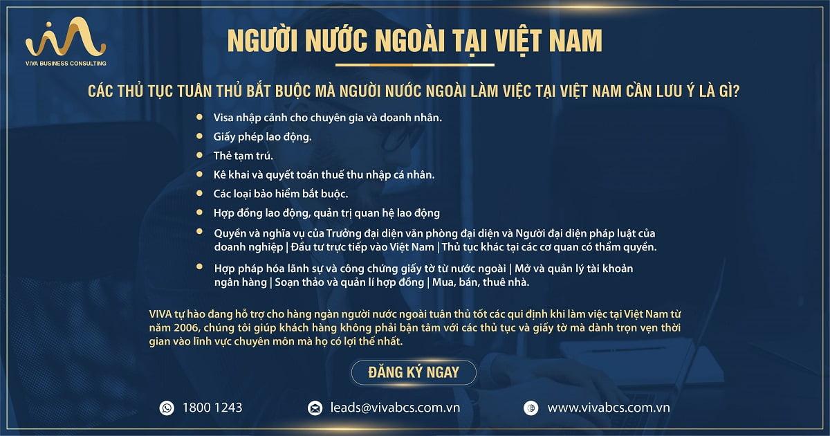 Tư vấn và hỗ trợ các thủ tục tuân thủ cho người nước ngoài làm việc tại Việt Nam