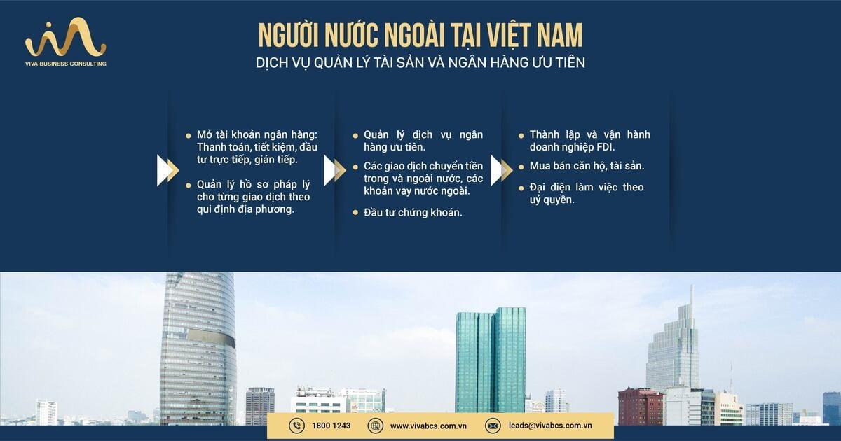 Dịch vụ quản lý ngân hàng và tải sản cho người nước ngoài