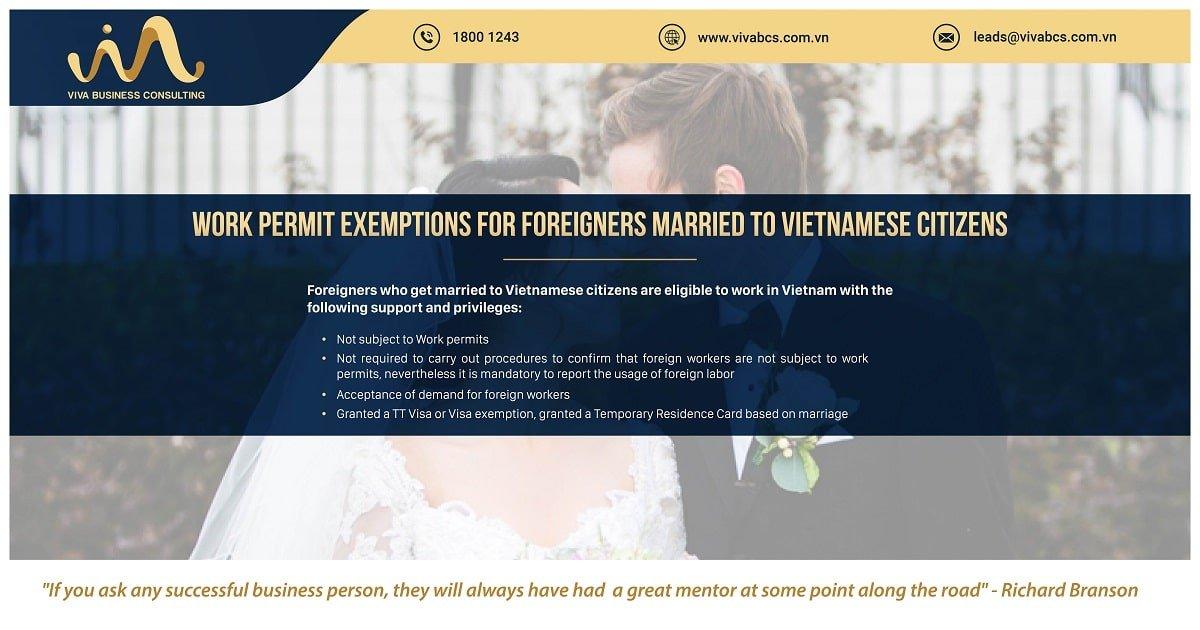 work permit exemption married to Vietnamese citizens