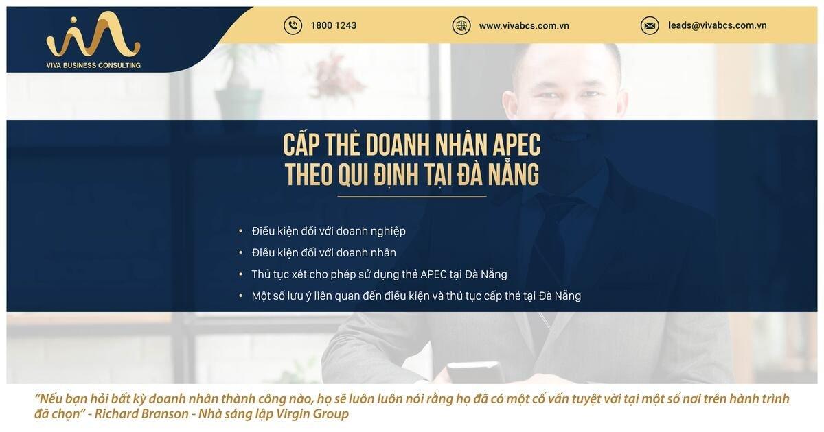 Qui định về cấp thẻ doanh nhân APC tại tỉnh Đà Nẵng