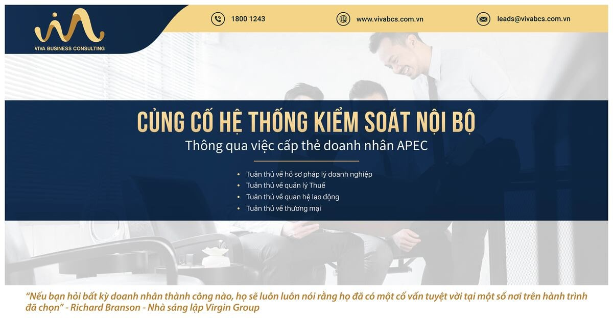 Củng cố hệ thống kiểm soát nội bộ thông qua thẻ APEC