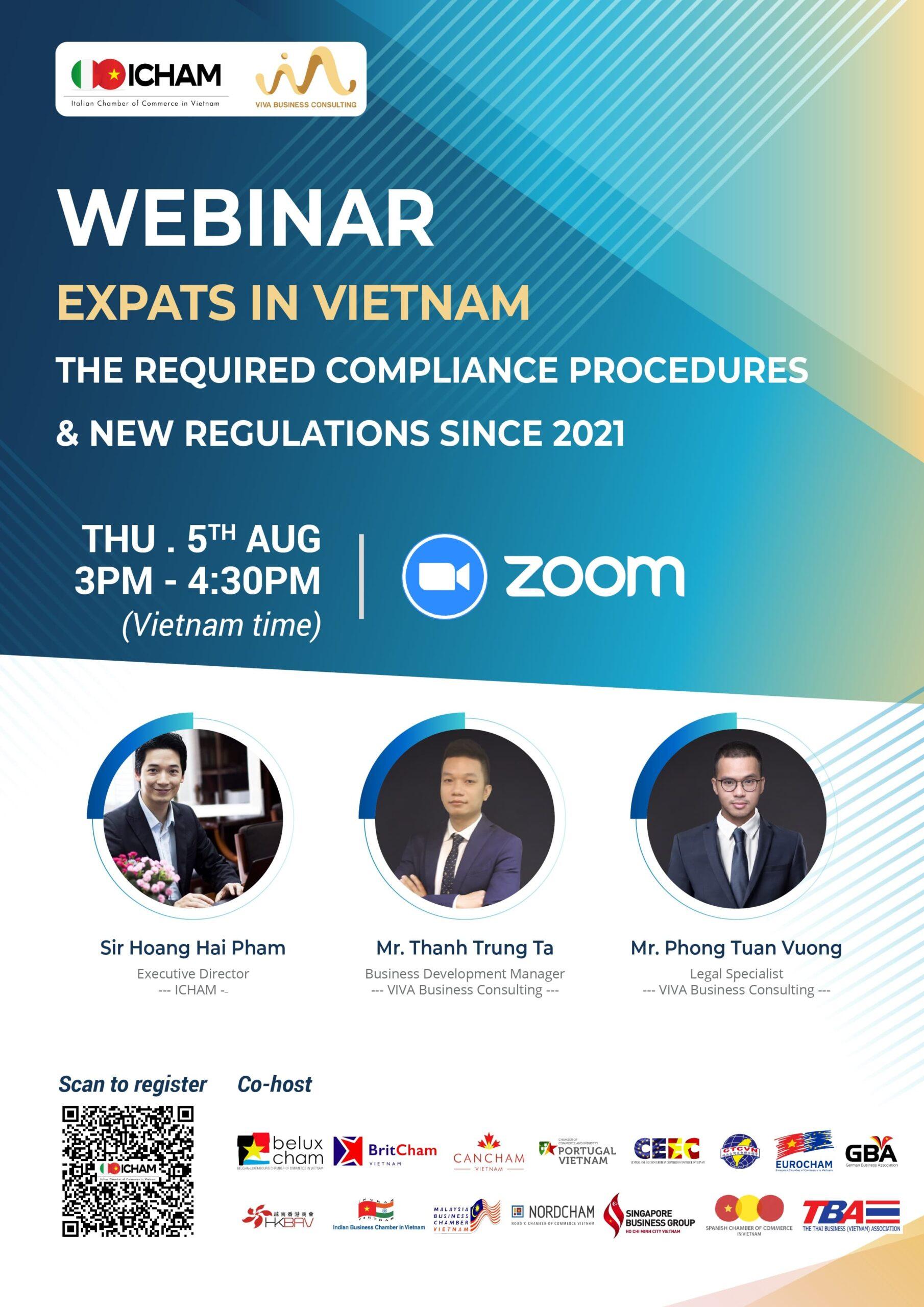 "Webinar ""Expats in Vietnam"" - The required compliance procedures 2021"