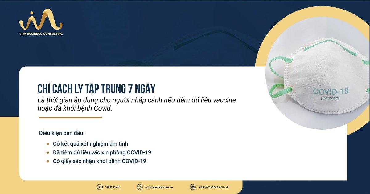 Cách ly 7 ngày đối với người nhập cảnh tiêm đủ liều vaccine