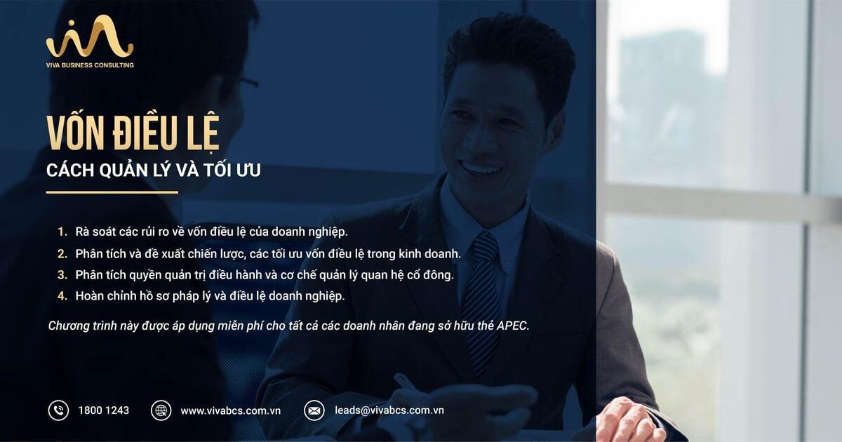 Quản lý và tối ưu vốn điều lệ cho doanh nhân sở hữu thẻ APEC