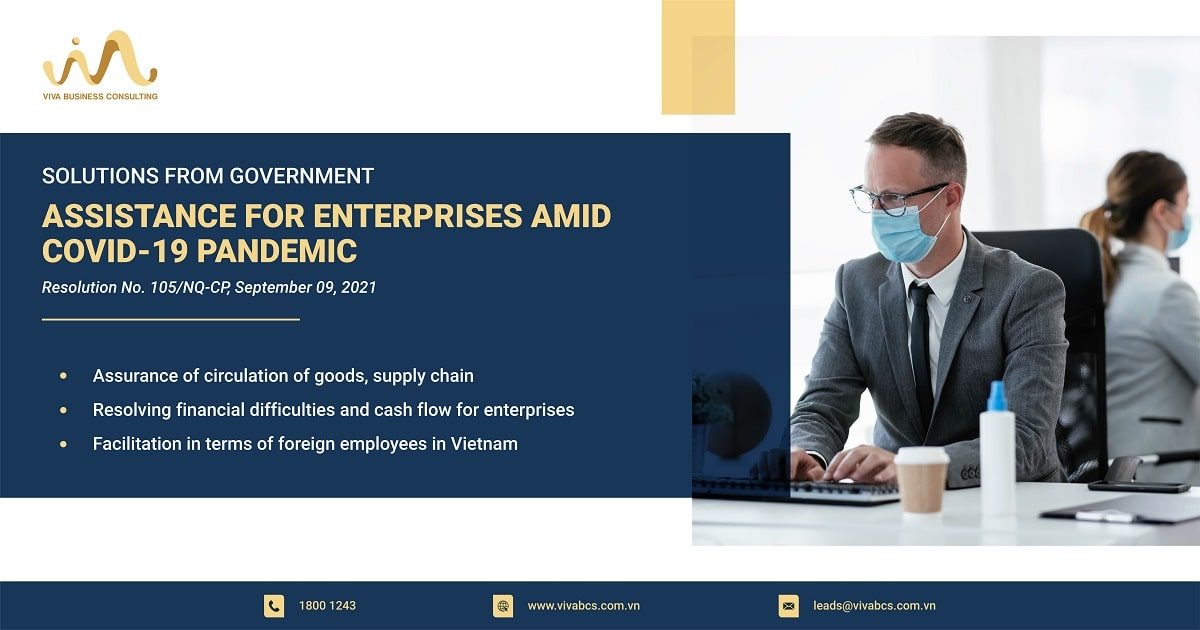 Assistance for enterprises amid covid-19 pandemic